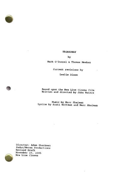 hairspray script