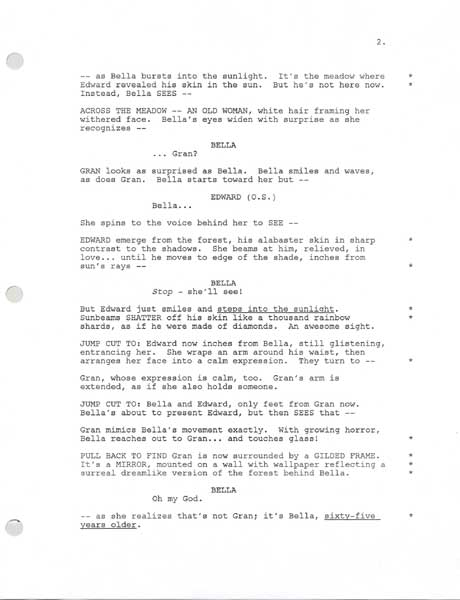 New Moon Movie Script - Collect and read the real and entire New ...