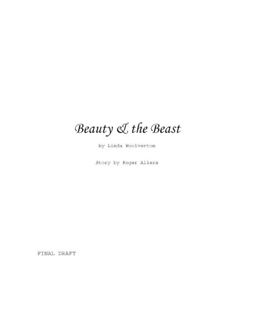 disney beauty and the beast script pdf