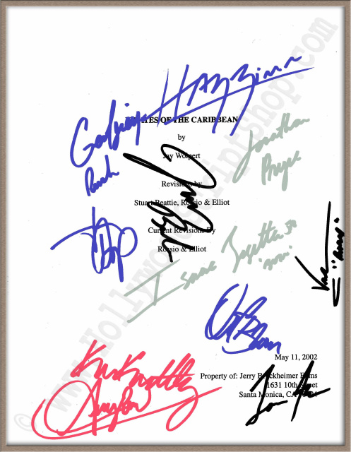 Signed Scripts Autographed Scripts For Sale At The